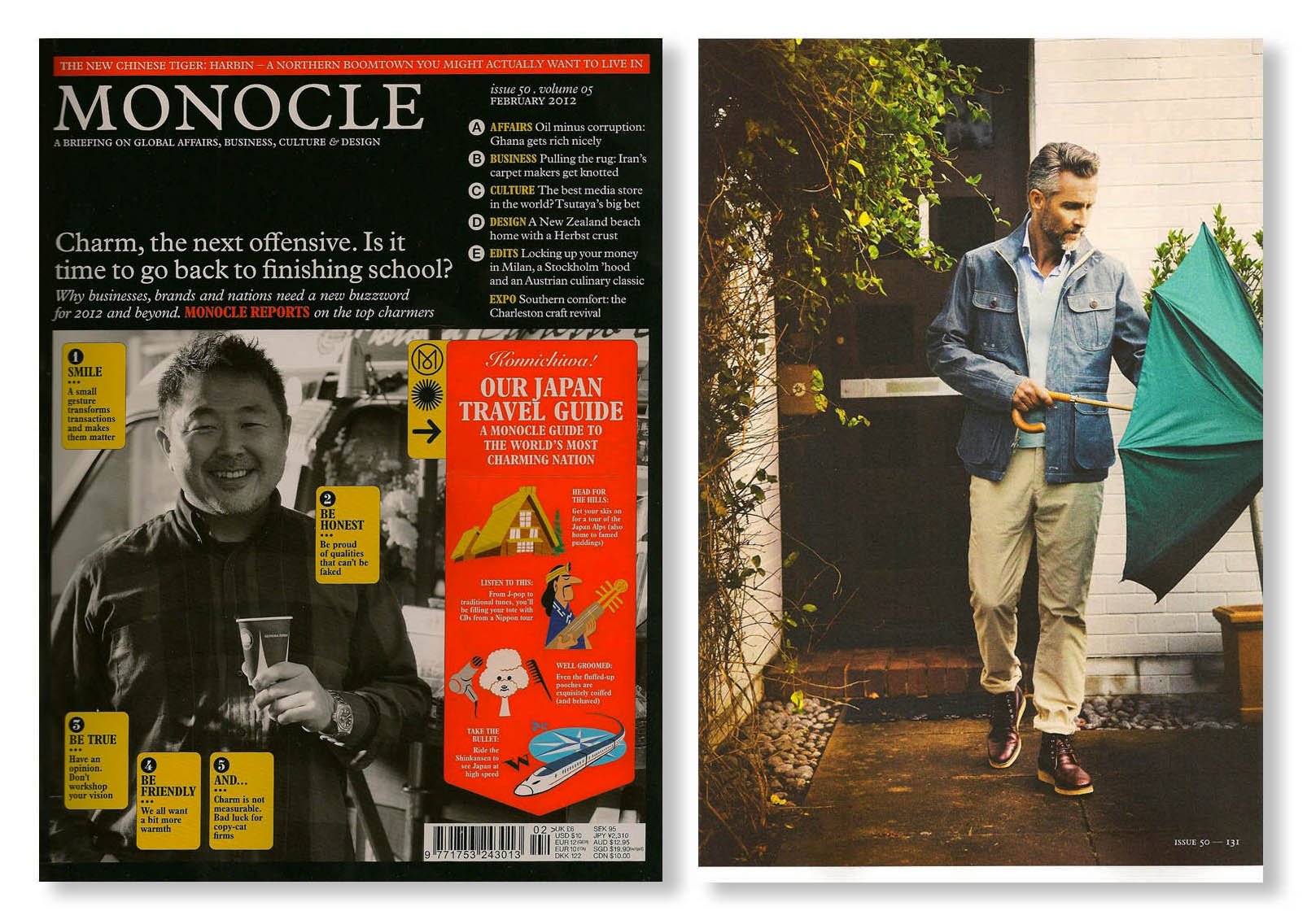 Trunk Clothiers Umbrella by London Undercover featured in Monocle Magazine