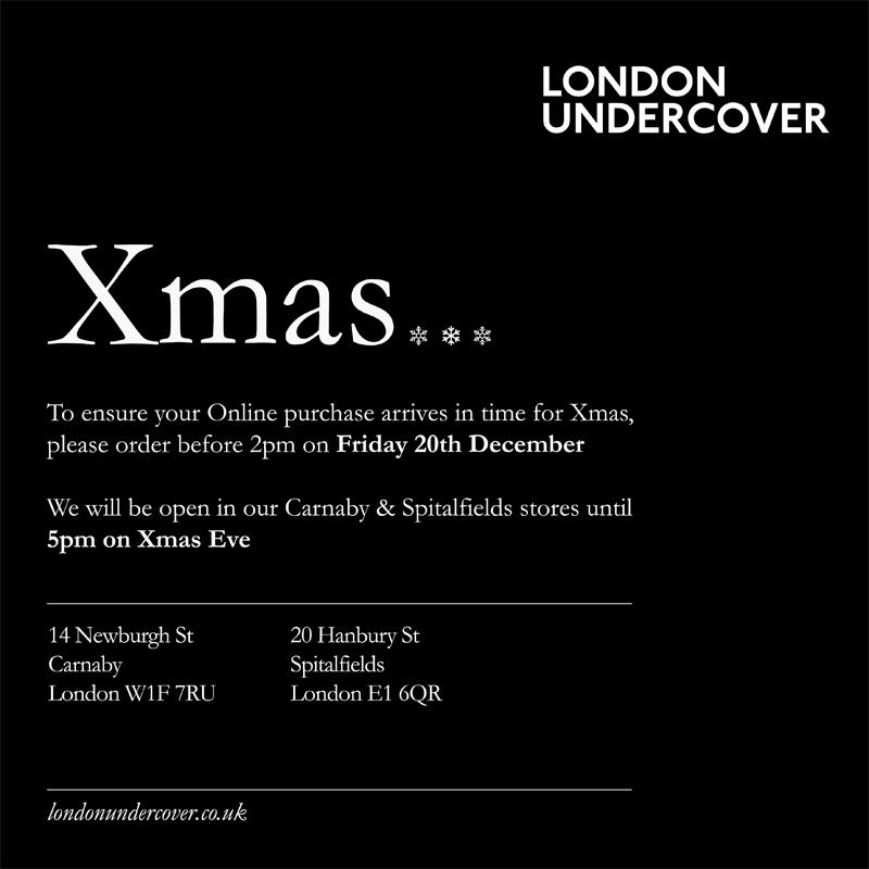 XMAS - CHRISTMAS - LONDON UNDERCOVER UMBELLAS