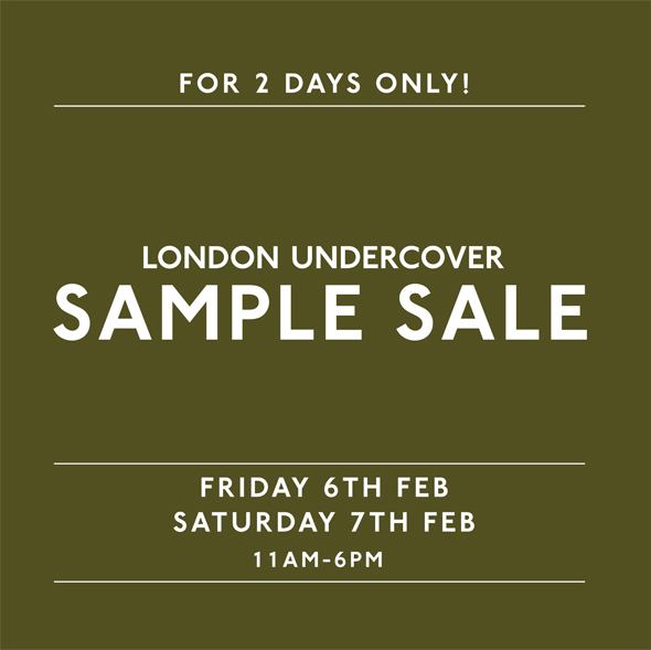 LONDON UNDERCOVER SAMPLE SALE