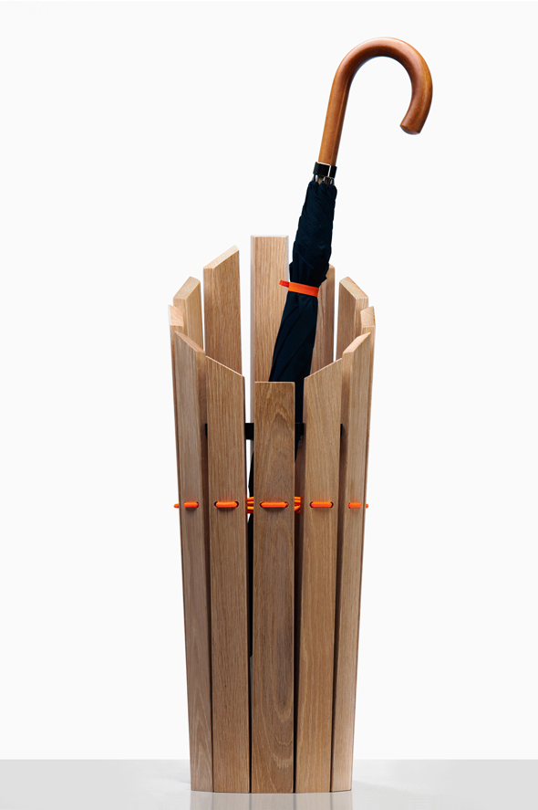 London Undercover Oak Umbrella Stand by Method Studio