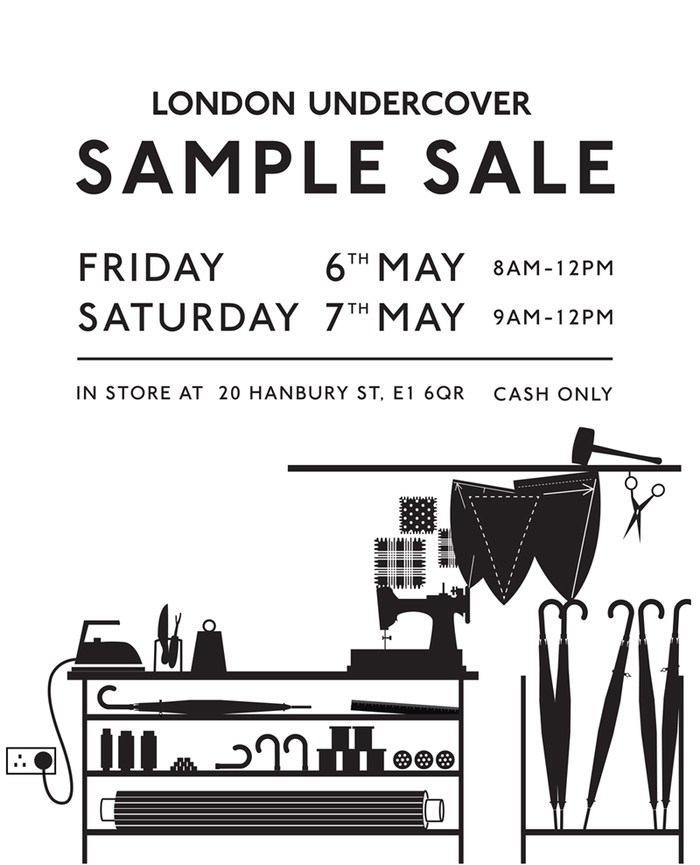 Sample sale london undercover